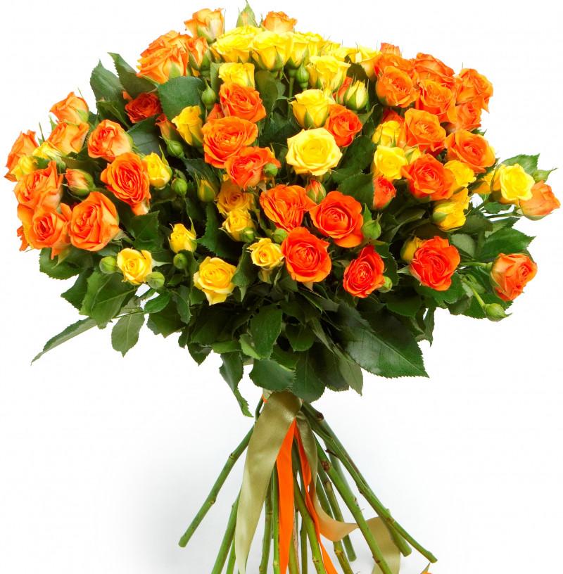 Оранжевые розы с доставкой по беларуси, букеты